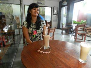 Juhi : Mad Hatter Pendant Nutella Shake: Pink Spike Necklace