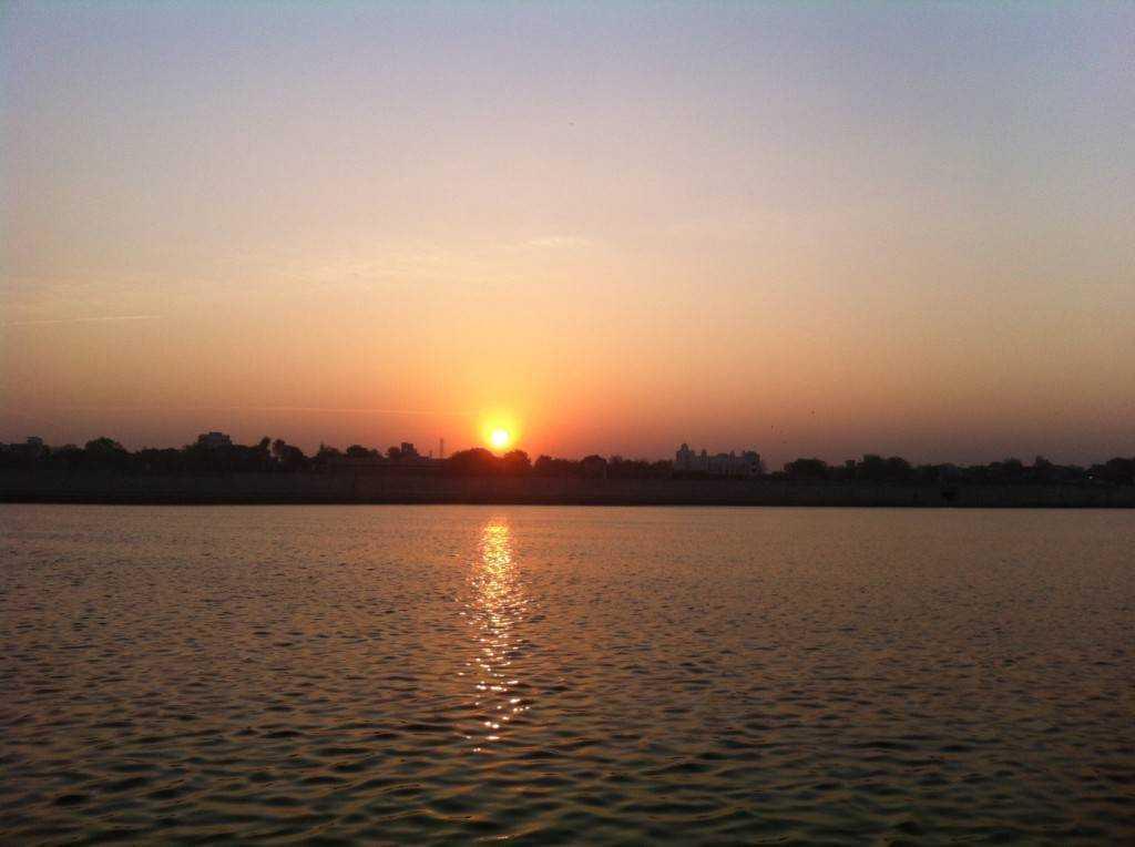 Sunrise at the riverside