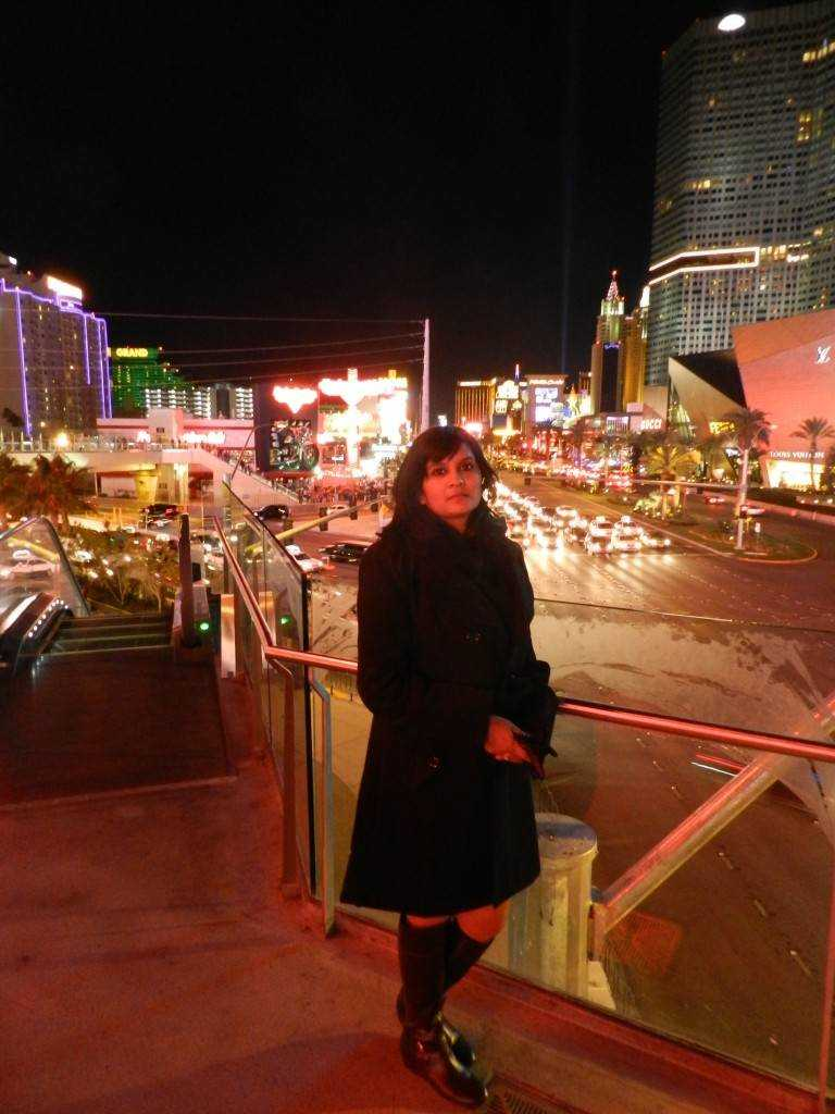 On the Strip Black Peacoat: Forever 21 Black Short Dress (that you can't see)-Only
