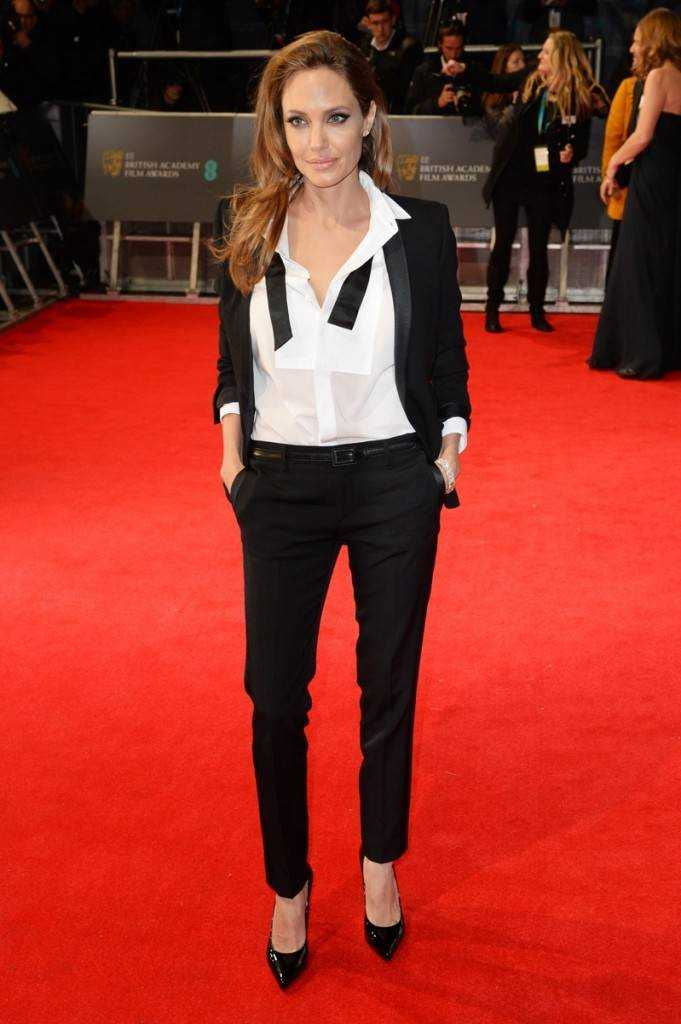 Angeline Jolie in Saint Laurent in BAFTA