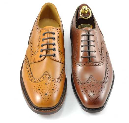 Left: Wingtip Brogue Derby Style Right: Wingtip Brogue Oxford Style