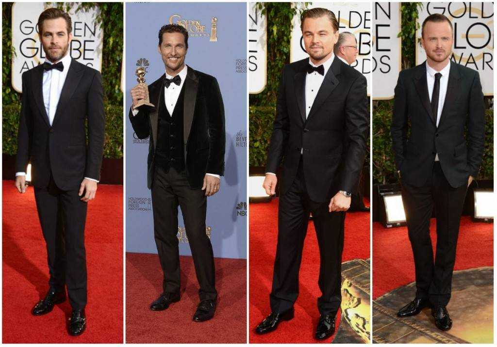 Some good looking men and their shiny shoes at the red carpet