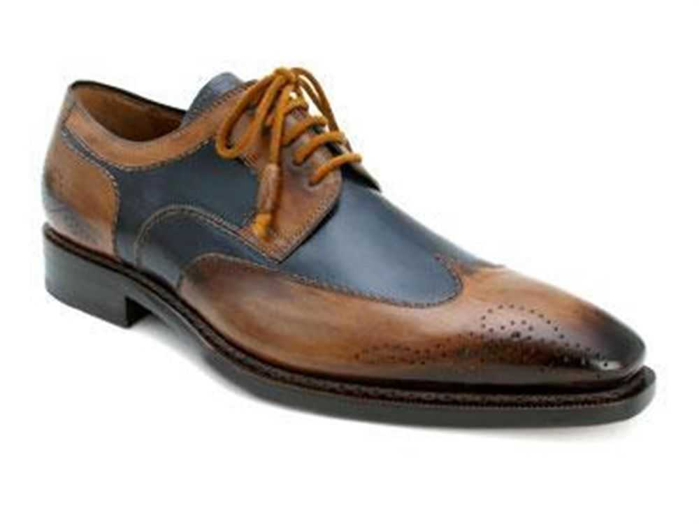 Two-toned Brogues by Mezlan Copa