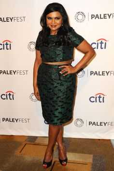 Mindy Kaling shows us how size does not matter for a crop top look