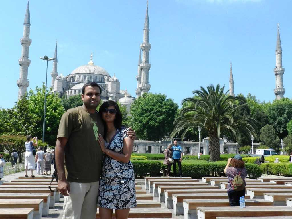 K&I outside the Blue Mosque