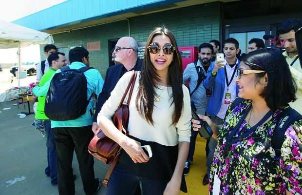 DP wearing the Miu Miu Lennon Style sunnies @ IIFA Pic Courtesy: Deccan Chronicle