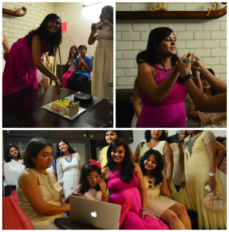 cakecollage - The Upadhyay Baby Shower-The Fun at the Party!