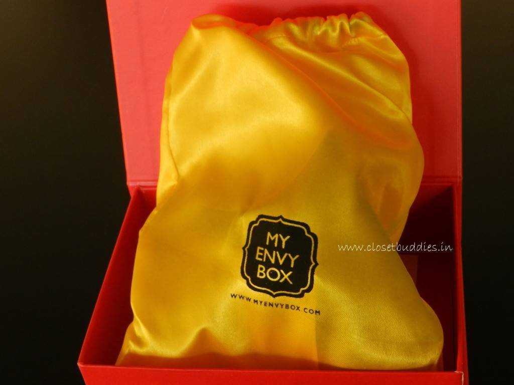 The embossed pouch in yellow!