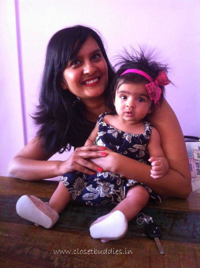 Iy and Moi. Iy's hair is all messed up thanks to her car-seat