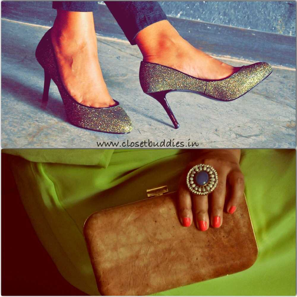 Pumps: Charles & Keith Ring: Jaipur Clutch: Vriksh Verma