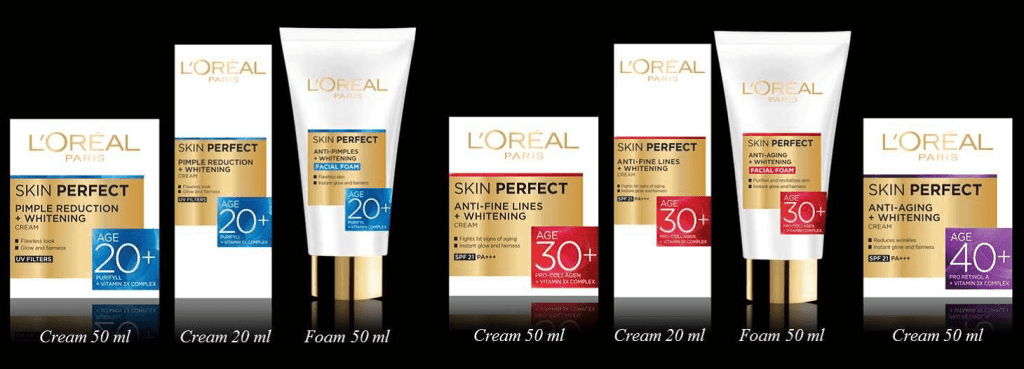 The complete Skin Perfect range at a glance