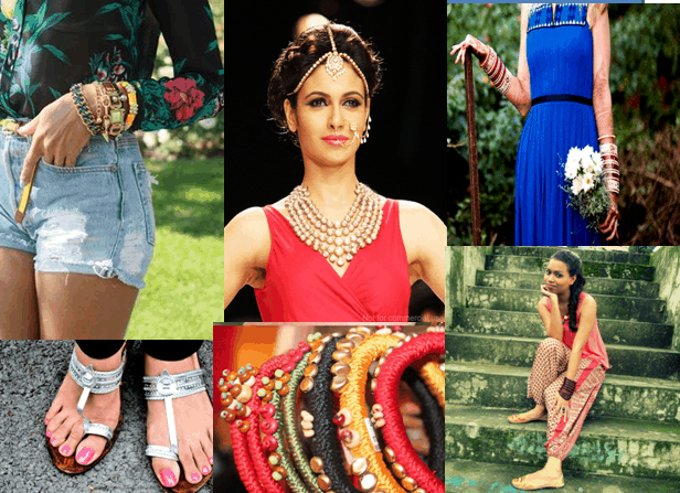 Collage 2 - Five Ways to Rock Traditional Accessories with Western Outfits