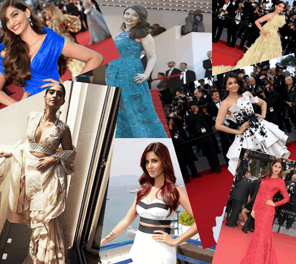 Collage - Cannes 2015 Red Carpet Round up- Bollywood Special