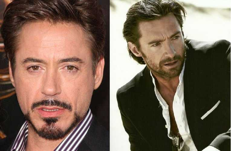 Downey Jr and Hugh Jackman Flaunting The Balbo Style. - The unBEARDable