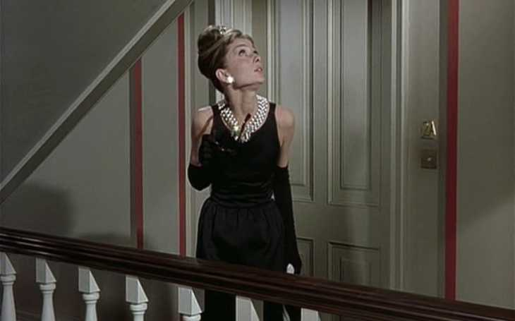 Audrey Hepburn in her black dress from Breakfast at Tiffany's