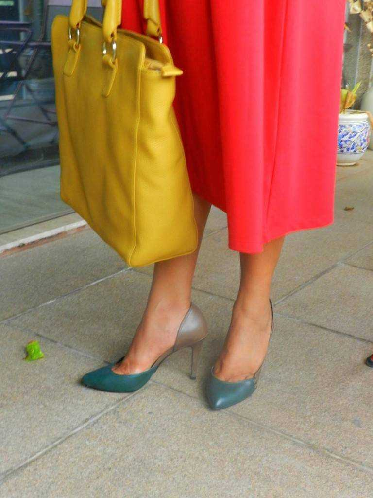 yellow tote: TAWS Pumps: Charles & Keith