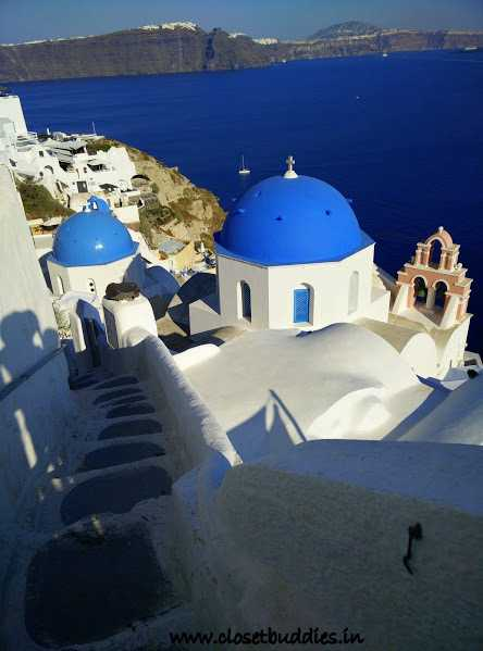 The beautiful Church Domes in Oia