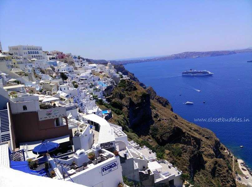 fira caldera cb - My Dreamy Grecian Sojourn- Santorini