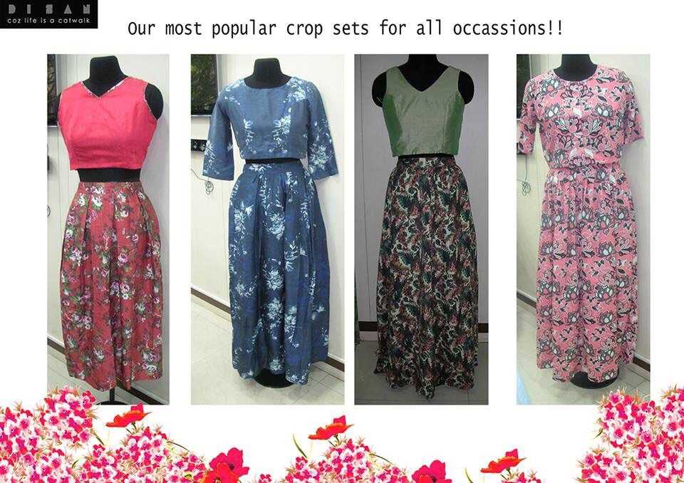 Love her crop-top maxi skirt collection!