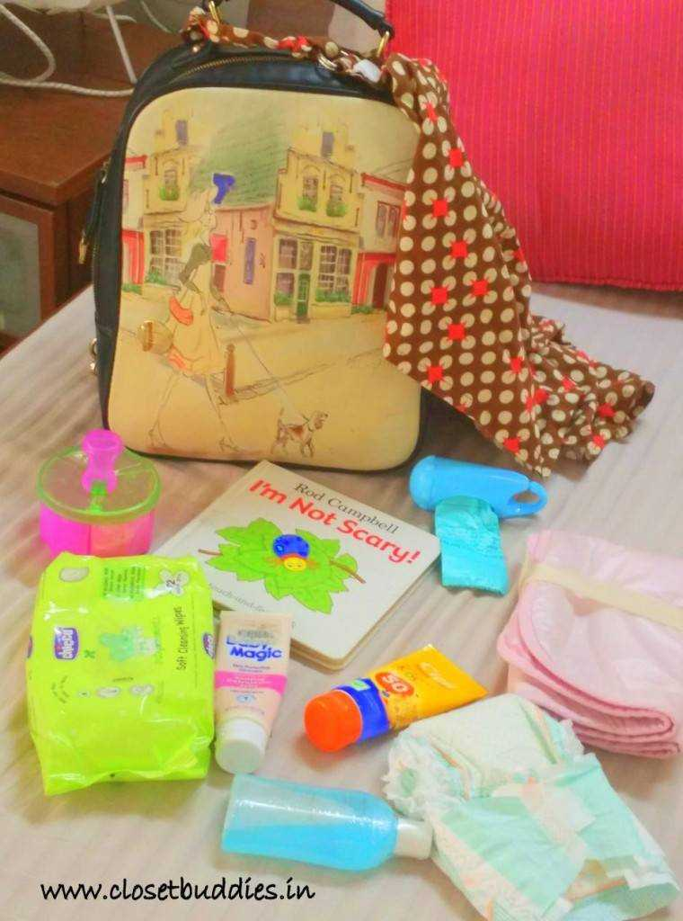 Who said the baby bag can't be cute & fun! Some of the items in the bag