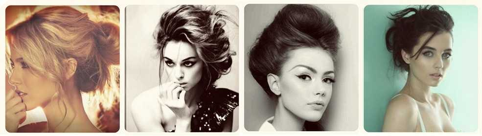 messy up do and bun with human hair extensions - Elegantly 'Tied-up'