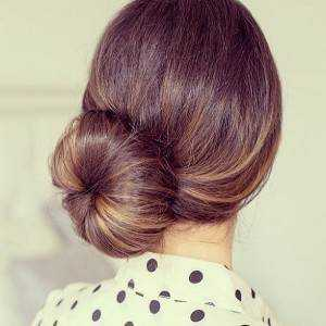 Elegant side bun.