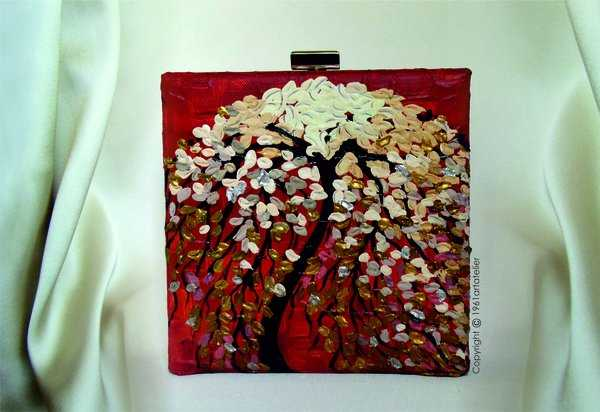 Hand painted Dream-Tree Clutch. Buy it here