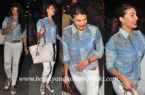Jacqueline Fernandez In Ralph Lauren Tods And Louis Vuitton At Zoya Akhtars Birthday Do 9 300x196 - That's how Bollywood looks distressed!!