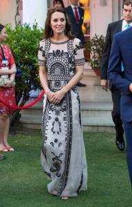 Kate Middleton Temperley London Dress India April 2016 2 192x300 - Kate Middleton's wardrobe for India tour