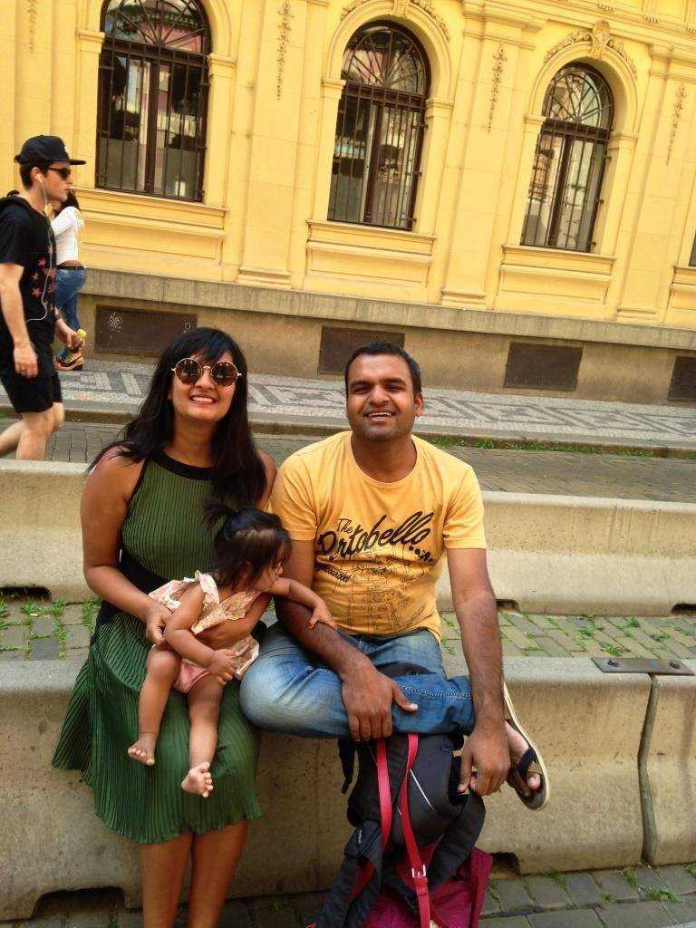 Resting our heels in Prague after carrying you for roughly 10K!