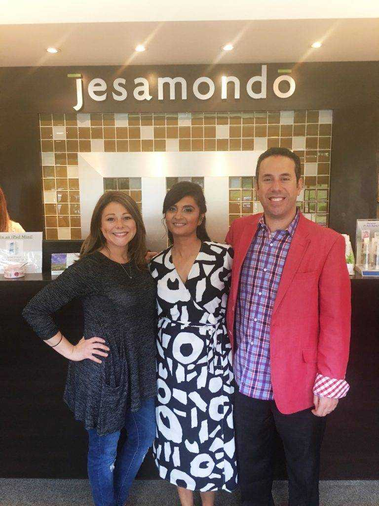 With Matt and Nicky at the Jesamondo Salon & Spa