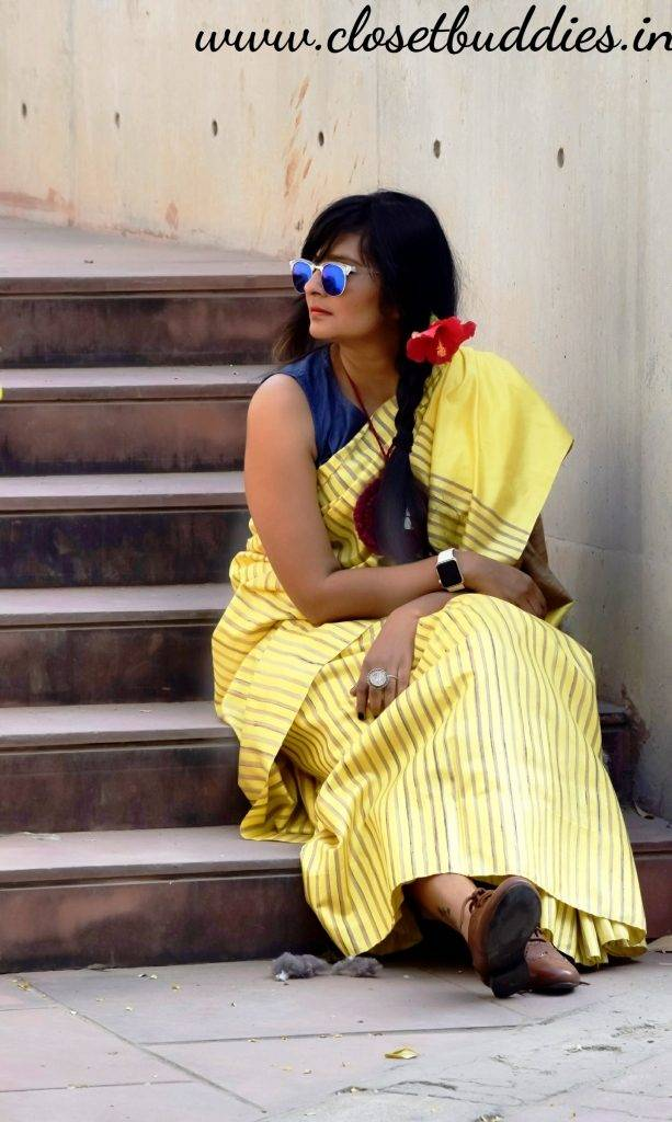 Quirky Saree1 613x1024 - Saree not Sorry- Breaking Fashion Rules