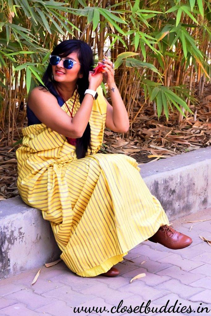 Quirky Saree3 683x1024 - Saree not Sorry- Breaking Fashion Rules