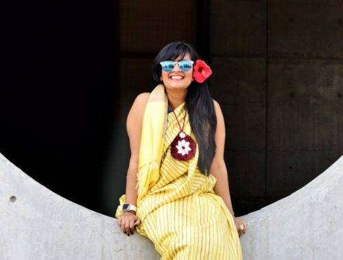 Quirky Saree4 500x380 - Saree not Sorry- Breaking Fashion Rules