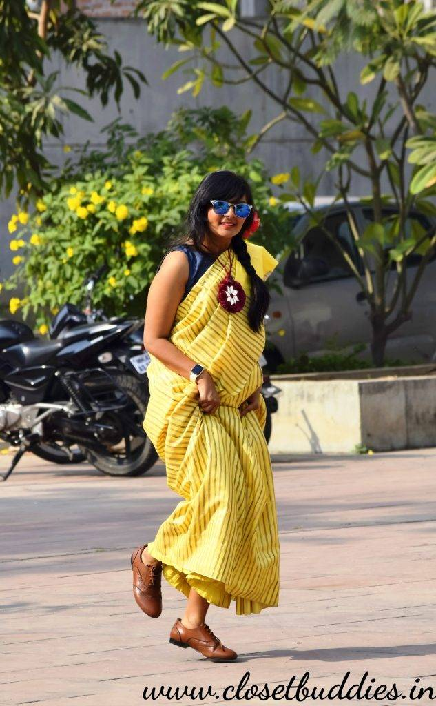 Quirky Saree8 633x1024 - Saree not Sorry- Breaking Fashion Rules