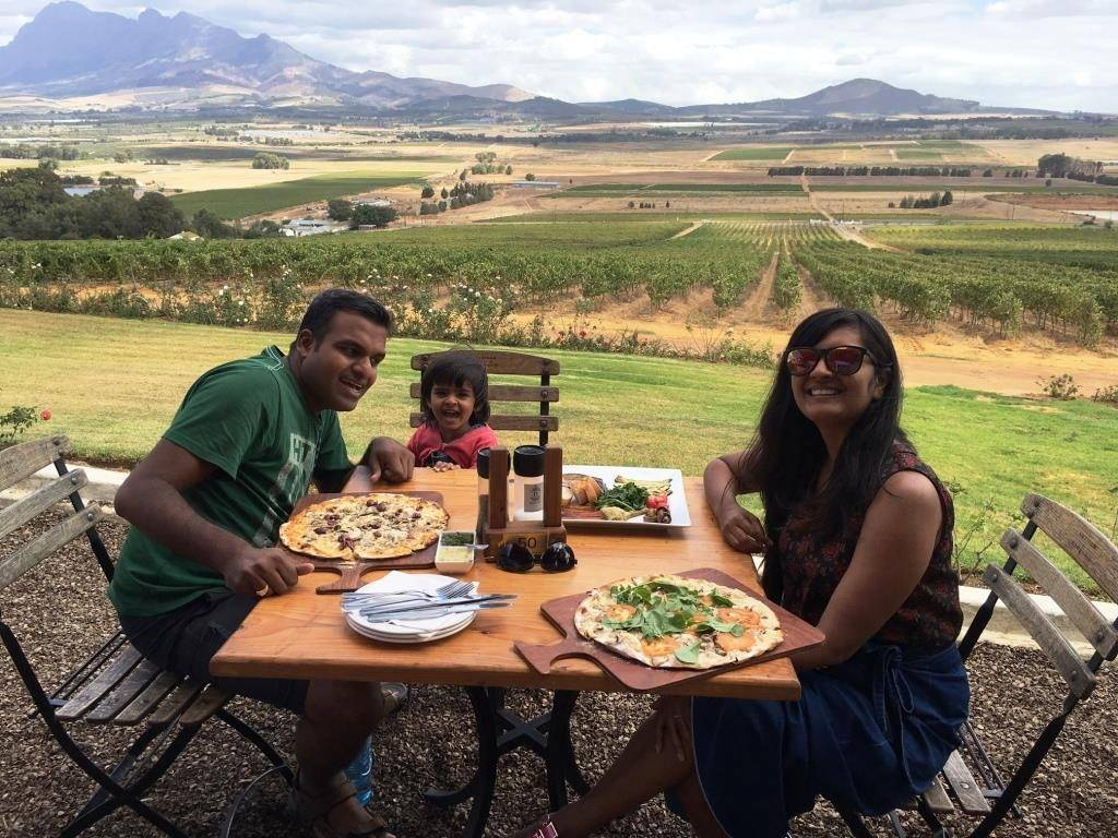 Lunch in Paarl 1024x768 - Road Trip In South Africa Part-2 (Garden Route and Cape Town)