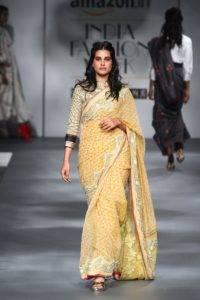 01658b5133db2596b6339dbe65aab074 200x300 - The saree edition at the Amazon India Fashion Week