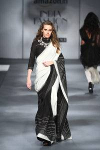 2c8419b0fce12644b56011edf7000e03 3 200x300 - The saree edition at the Amazon India Fashion Week