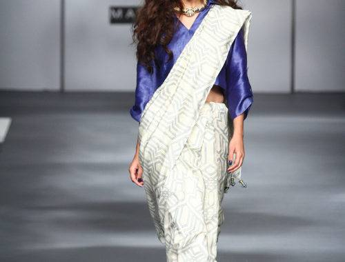 AIFWAW17D1S6SARI 24 7Runway019 500x380 - The saree edition at the Amazon India Fashion Week