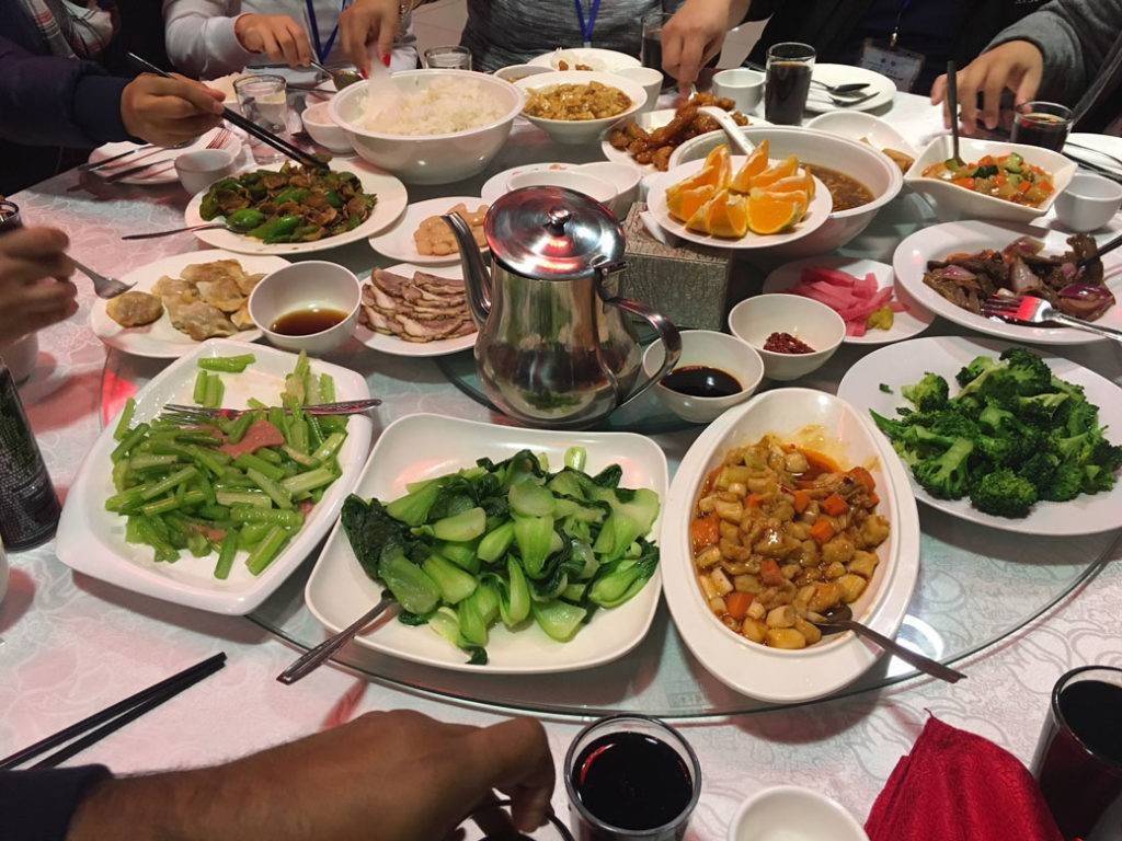 Community lunch spread 1024x768 - Planning a trip to China Part 2
