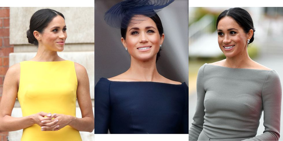 cosmo meghan markle boatneck style index2 1531428708 - Meghan Markle's ritzy sartorial choices