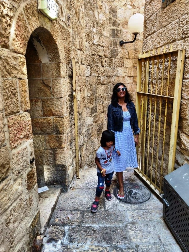 Iy and I in Jerusalem  - Travelling to Israel Part-2 (Suggested Itinerary)