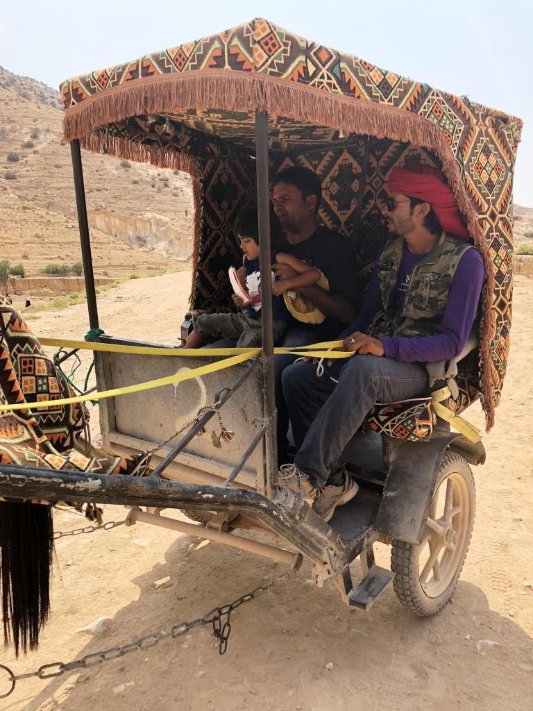 horse cart Petra - A Weekend in Jordan- Why, How and What?