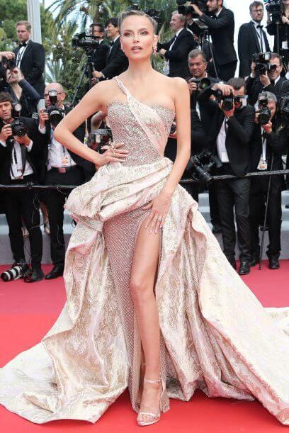 Natasha poly harpersbazaar - Fashion faceoff at Cannes Film Festival 2019